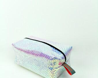 Pink Snake Holo Laser Leather Cuboid  Case - hannisch