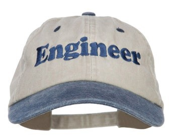 Engineer Embroidered Washed Cap