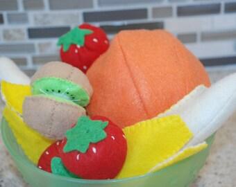 INTERACTIVE Toddler Felt Fruit Set