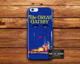 The Great Gatsby Phone Case, Vintage book cover,  vintage Gatsby, Gatsby iPhone, Samsung Galaxy, Samsung Note, iPhone 6s, literature phone