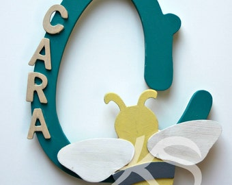Personalized Hand Painted Children's Name Sign for bedroom or nursery, customized to your specifications!