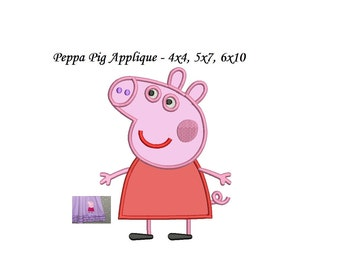 Peppa Pig Applique Design - Immediate download 4 sizes - Peppa Pig Embroidery design