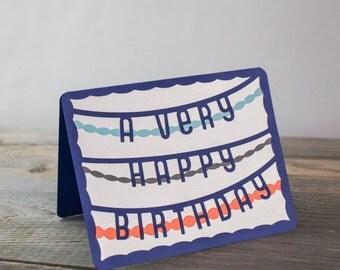 A Very Happy Birthday Handmade Card