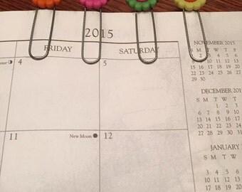 Planner Clips / Bookmarks / Floral / Set of 4