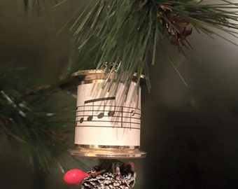 Musical Spool Made with Vintage Sheet Music