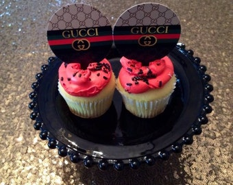 12  GG Collection Cupcake Toppers