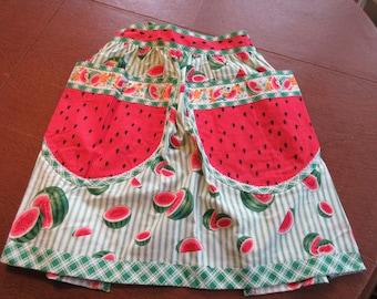 Half Apron, Watermelon Design