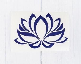 Lotus Flower Decal | Lotus Flower Sticker| Yoga Decal | Lotus Decal |coffee cup decal | car decal | iPhone decal | Yeti decal
