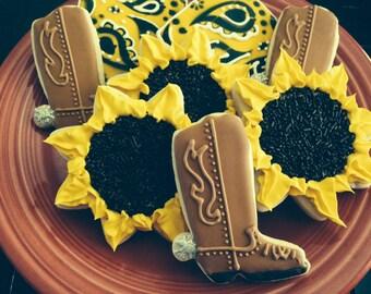 Western Theme Cookies