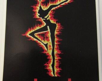 "DMB, Dave Matthews Decal, FIRE DANCER, Full Color 7""x5"" Car Window decal, Sticker"