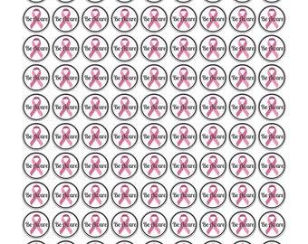 Pink Awareness Ribbon-Awareness Ribbons-Breast Cancer Awareness-October Cancer Awareness Ribbon-Ribbon Stickers-Cancer Awareness Stickers
