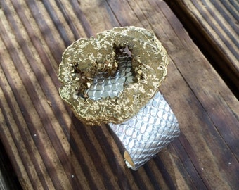 Gold Druzy Statement Cuff