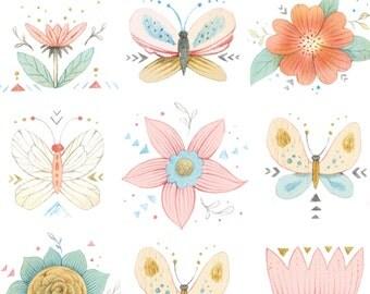 Dream Catchers - Per Yd - Studio e - Beautiful Print - on White