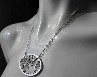 Silver Dewdrop Necklace