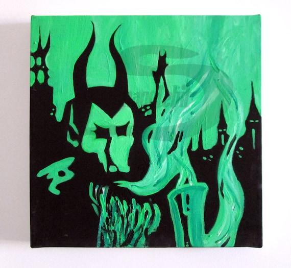 electric wizard dopethrone handmade acrylic by