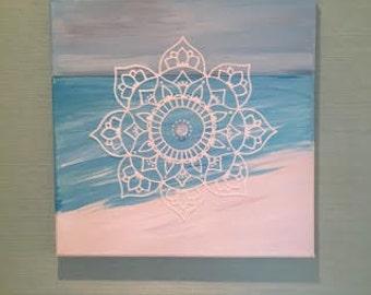 Beach Mandala (12'' x 12'' canvas)
