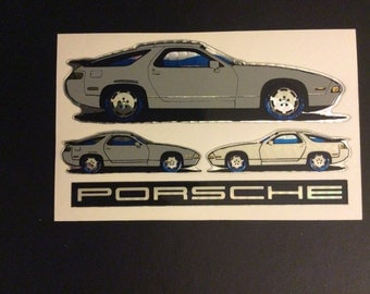 80's Vending Machine Porsche Sticker