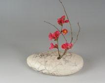 Shingle vase naked Raku -VG001
