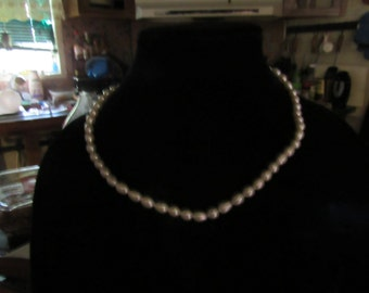 Freshwater Pearls Necklace with sterling silver