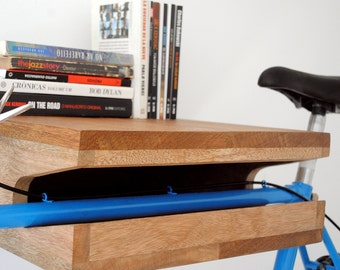 Hardwood bike rack & shelf *BIG* (handmade)