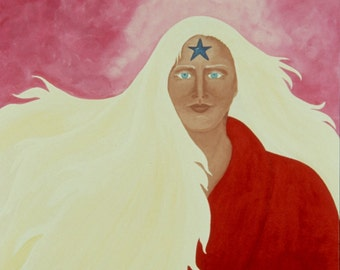 "Giclee Print Fine Art Paper Native American Print Surreal Print Metaphysical Print ""Possibilities"""