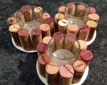 Set of Wine Cork Votive Holders