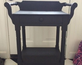 Old, Black Occasional Table
