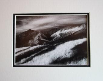 Mountains (8x10), Jasper, Alberta, Canadian Rockies, Colin Range, Christmas gift idea, wall art, home decor, office decor, photo gift
