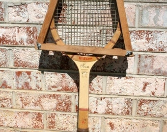 Wilson Wooden Tennis Racquet//Jack Kramer Autograph Speed Flex Fibre Face//Vintage Tennis Racquet