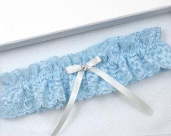 Blue Wedding Garter, Bridal Garter, Blue Garter, Wedding Garter, Blue Wedding Garter, Blue Lace Garter, Blue Garter, Something Blue