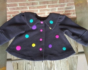 Vintage Little Girl's Swing Coat Emma's Garden Size 12M 90s 1990s ~~ Maddeleine, Retro, European, Whimsical