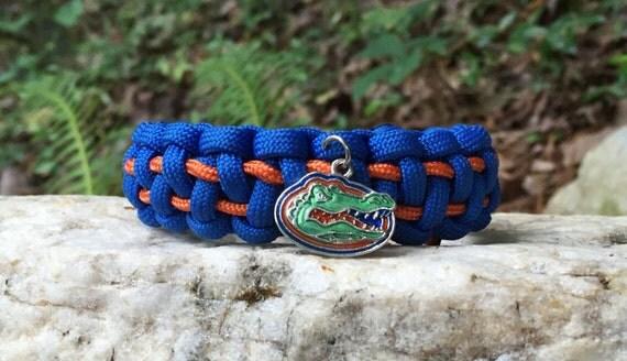 Florida Gators Paracord Bracelet, Gators logo pendant