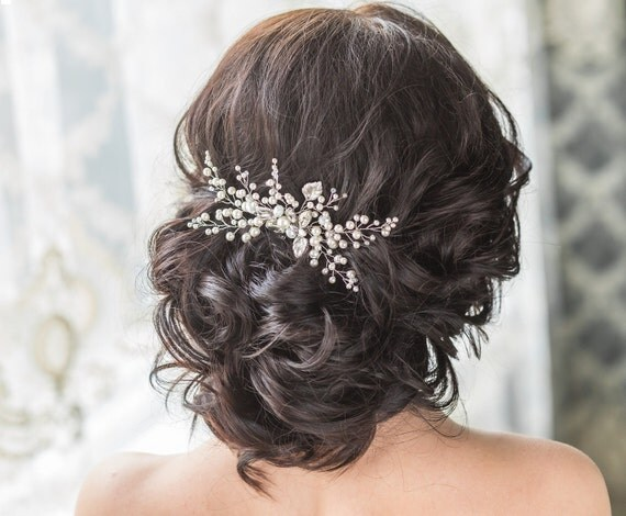 Bridal Hair Comb With Swarovski Pearls Bridal Headpiece Bridal