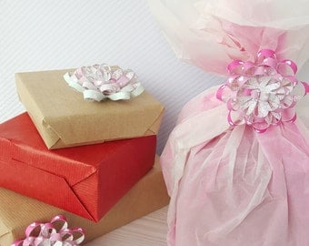 Pink Heart Ombre Gift Bows