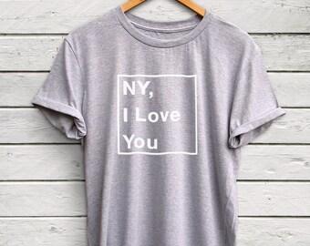NY I Love You shirt - new york shirt, ny shirt, brooklyn tshirt, new york tshirt, i love new york, brooklyn shirt