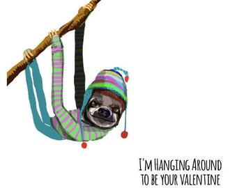 Sloth Valentine's Day Card