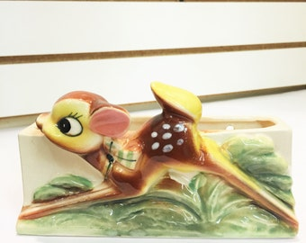 Vintage Ceramic Bambi/Fawn Planter Made in Japan #67
