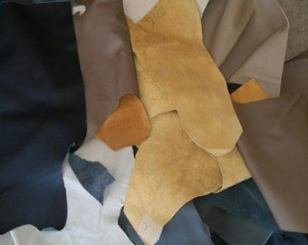 2KG of Genuine Leather Upholstery Scraps