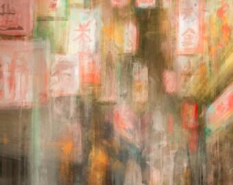 Nighttime in Chinatown Art Print