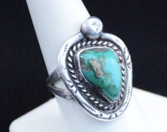Sterling Ring-Native American Turquoise  J3