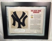 1978 New York Yankees Framed Patch & Information Panel Gift MLB Man Cave