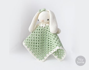 Lovely Bunny Lovey Pattern | Security Blanket | Crochet Lovey | Baby Lovey Toy | Blanket Toy | Lovey Blanket PDF Crochet Pattern