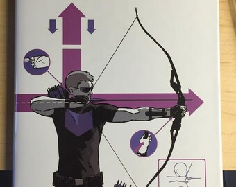 Hawkeye hardcover, signed with a quick Clint sketch!