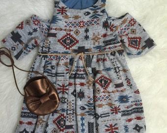 My Wanderlust Co. Aztec cold shoulder Megan Dress