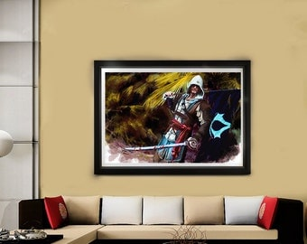 Edward Kenway // Assassins Creed // Black Flag // Game art // Photorealistic Print // Artwork // Poster