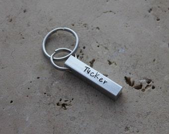 Dog Tag - Pet Tag - Pet ID Tag - Bar Dog Tag - Personalized Puppy Tag - Custom Dog Collar Tag - Dog Name Tag - Four Sided Tag - Tucker