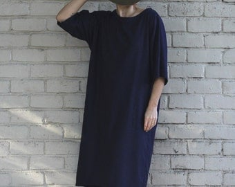 Silk Noil Cocoon Dress