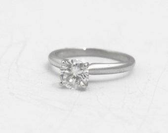 Solitaire Diamond Engagement Ring .93 ct