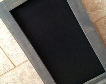 Rustic Wood Framed Chalkboard - Kitchen Chalkboard - Large Chalkboard - Wood Chalkboard - Tall Chalkboard - Chalkboard With Ledge 14x24shake