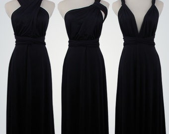 Black Infinity Dress bridesmaid dress infinity dress long bridesmaid dress convertible bridesmaid dress long convertible dress multiwaydress